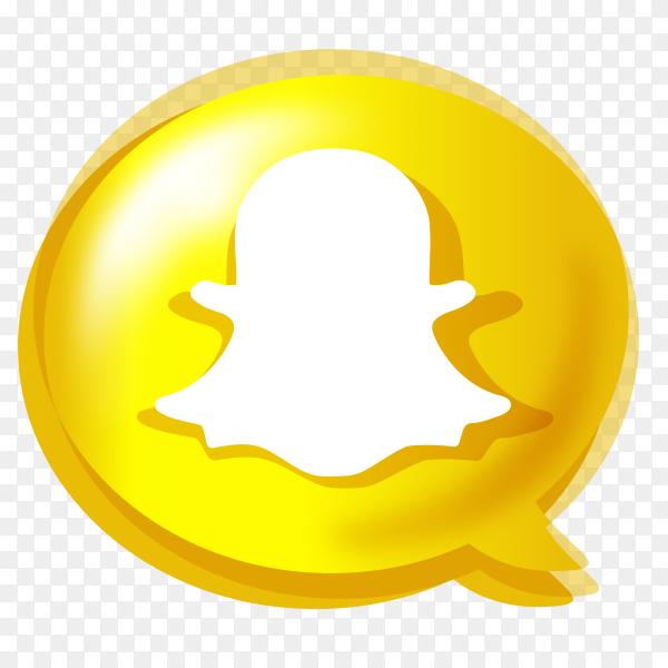 Gradient social media logo Snapchat PNG