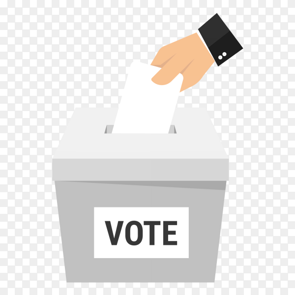 Voting concept flat design PNG