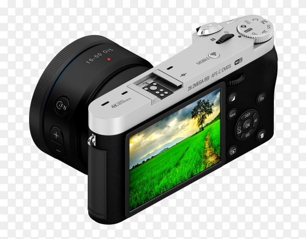 Isometric camera with display PNG