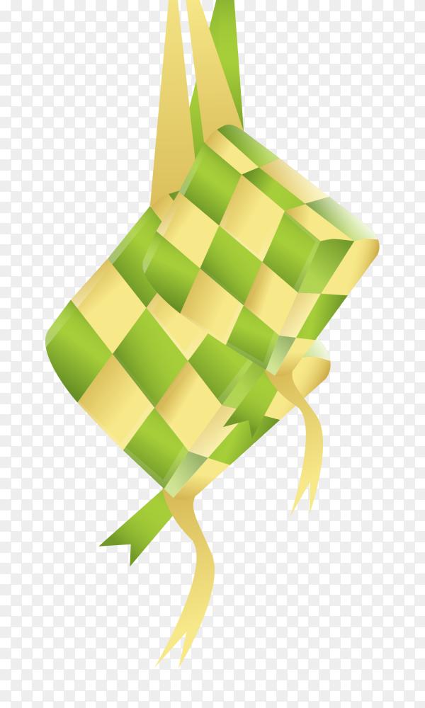 Hand drawn ketupat PNG