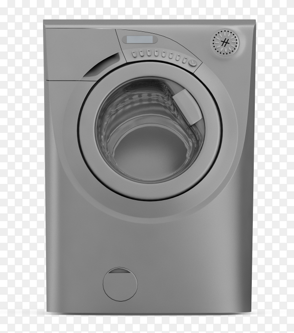 Isometric laundry machine 3d render PNG