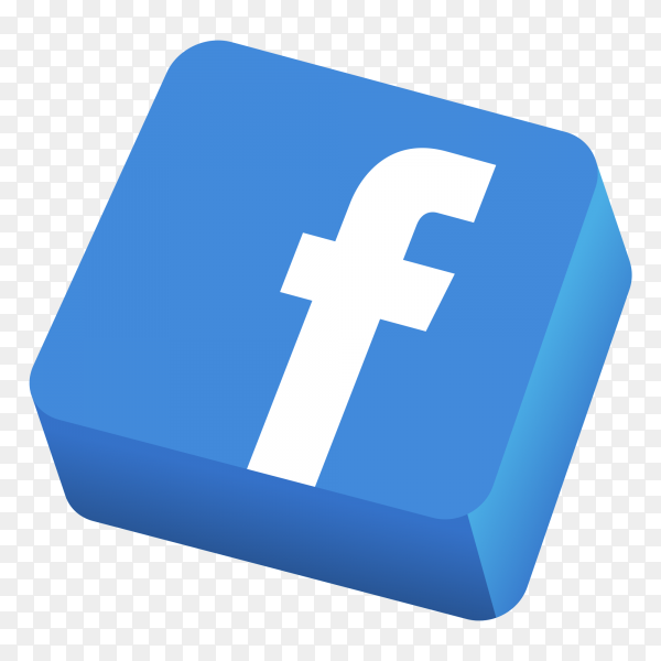 Logo facebook 3D icon PNG - Similar PNG