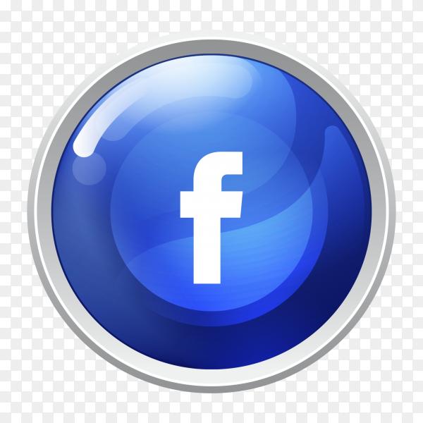 Logo facebook button social media PNG