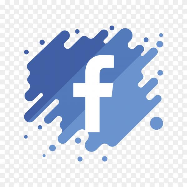 Logo facebook modern PNG