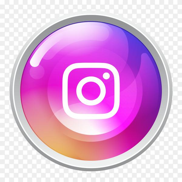 Logo Instagram button social media PNG