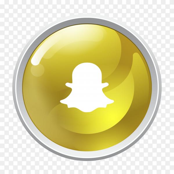 Logo Snapchat button social media PNG