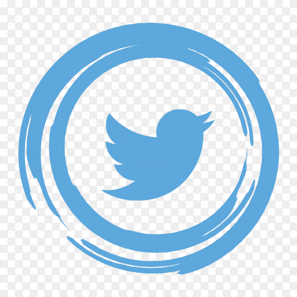 Logo twitter abstract social media icon PNG
