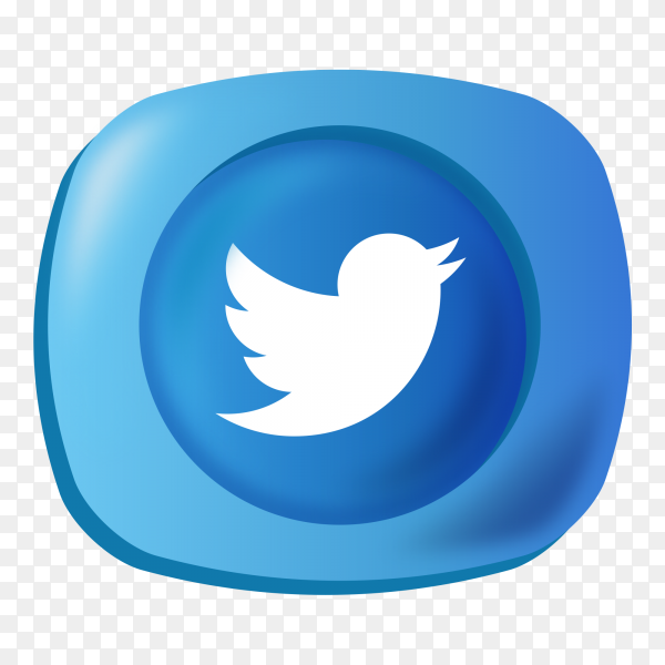 Logo twitter gradient social media icon PNG