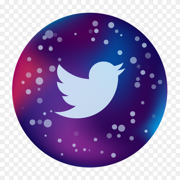 Logo twitter icon modern social media colored PNG