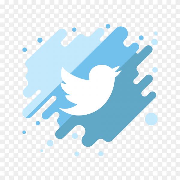 Logo twitter modern PNG