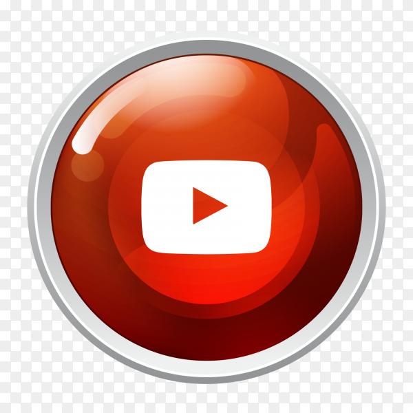 logo YouTube button social media icon PNG