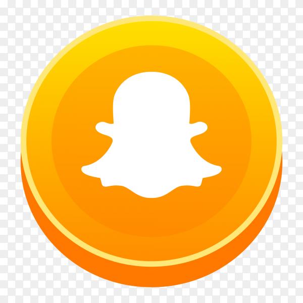 Realistic Snapchat logo social network PNG