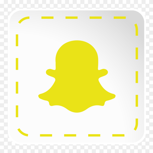 Snapchat logo icon social media sticky paper PNG