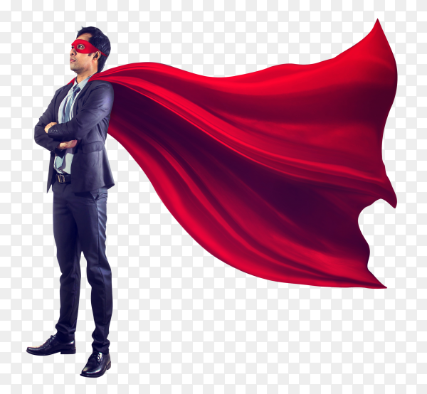 Business superhero PNG