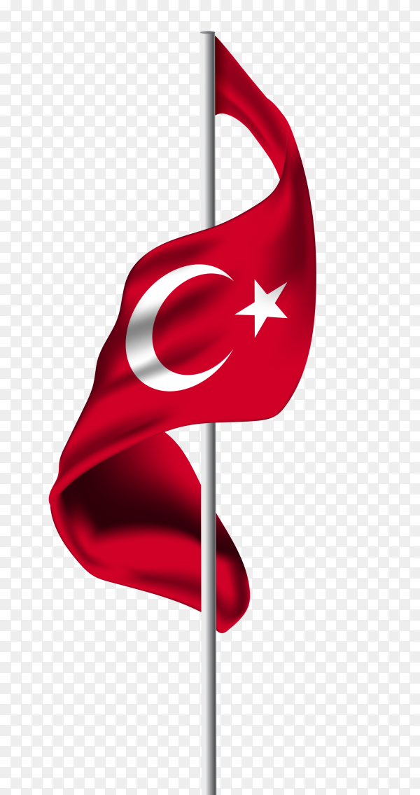 Turkey flag pennant PNG