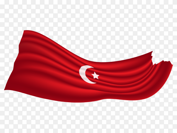 Turkey flag pennant transparent PNG