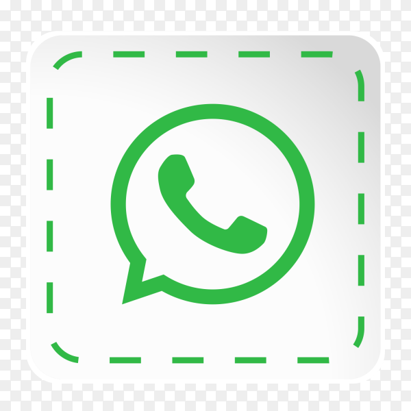 Whatsapp logo icon social media sticky paper PNG
