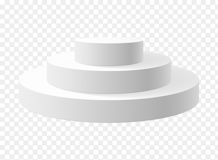 White podium 3 stepped PNG