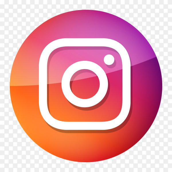 Glossy Instagram logo PNG