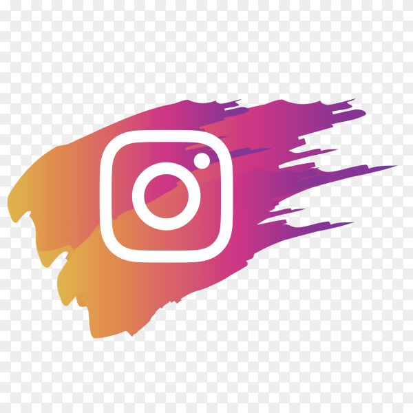 Instagram logo with brush PNG