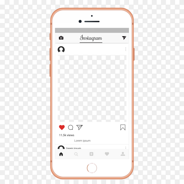 instagram ui ux template layout premium vector png similar png instagram ui ux template layout premium