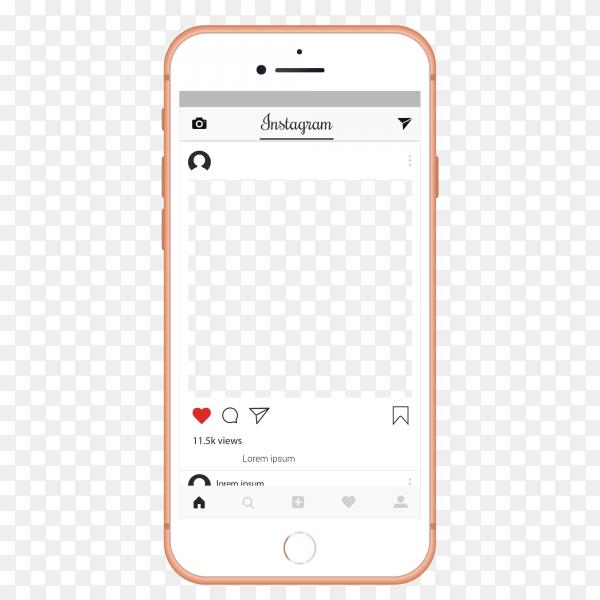 instagram ui ux template layout premium vector png similar png instagram ui ux template layout premium