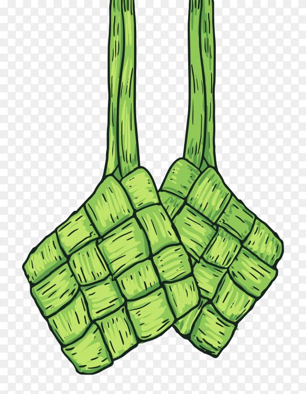 Ketupat food vector PNG
