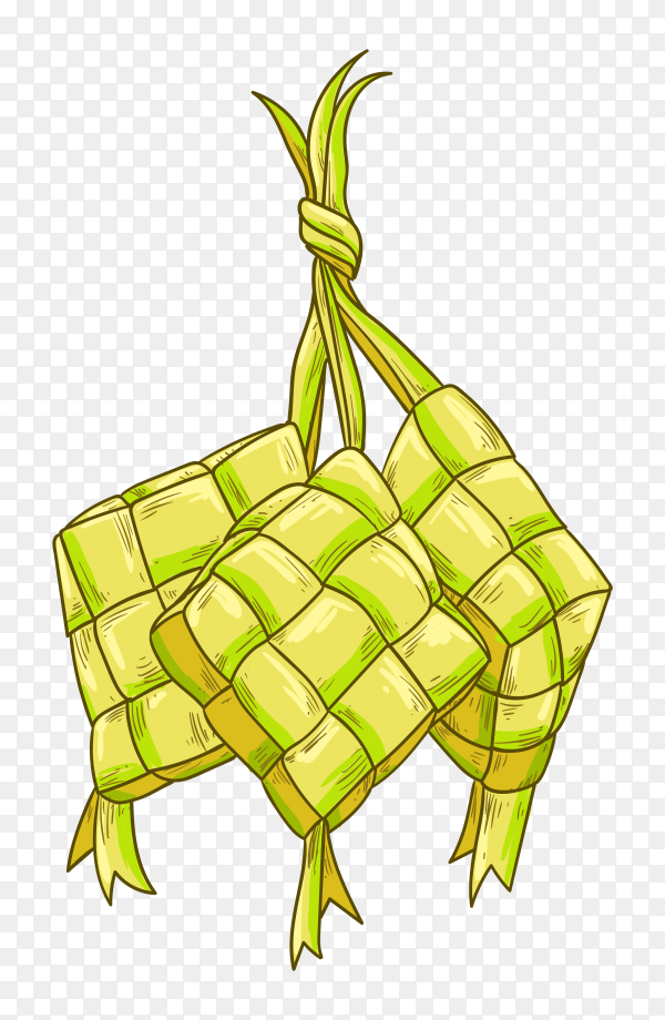 Ketupat for eid mubarak transparent PNG