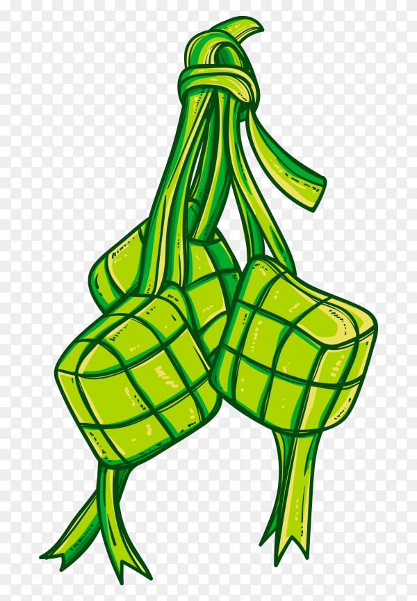 Ketupat vector ready for Eid Al-fitr vector PNG