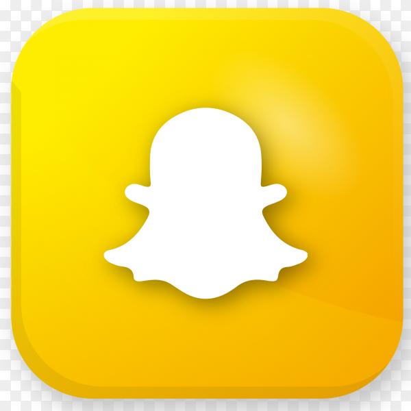 Logo Snapchat realistic icon transparent PNG - Similar PNG