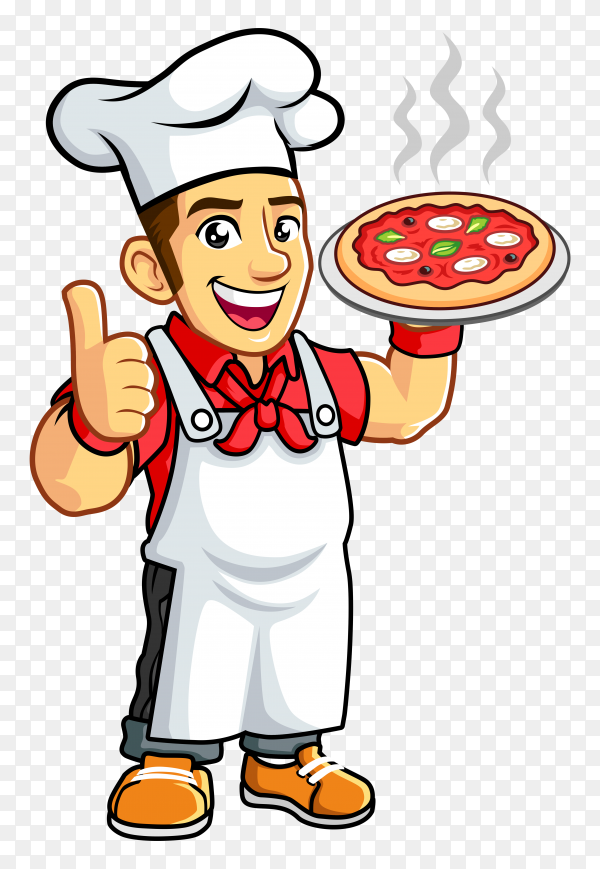 Pizza chef transparent background PNG