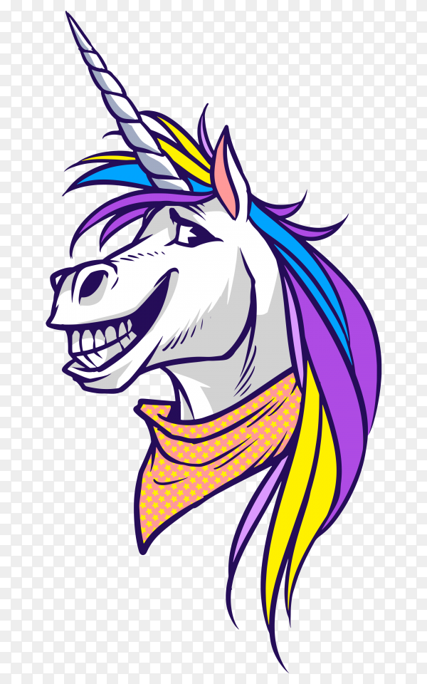 Unicorn happy horse PNG