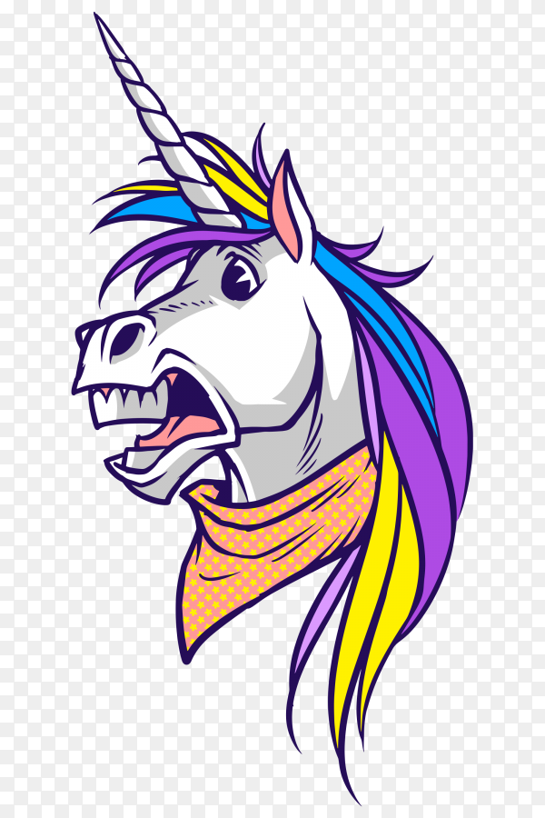 Unicorn surprised Vector PNG