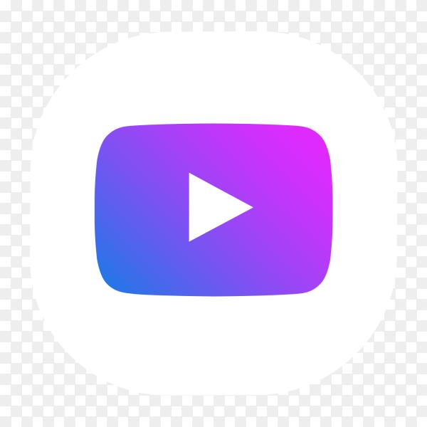 Youtube Logo Blue Purple Glowing Social Network Png Similar Png