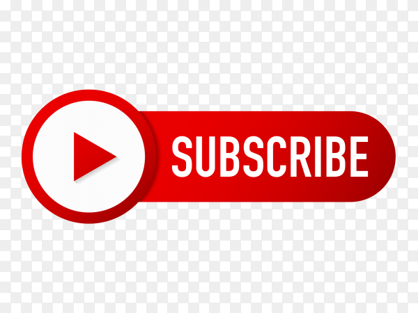 Subscribe button with icon youtube PNG
