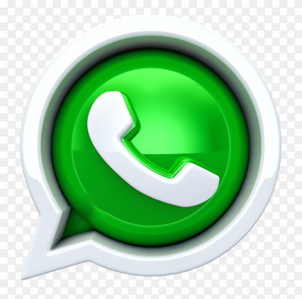 3D WhatsApp logo transparent PNG