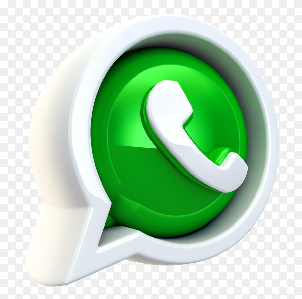 3D WhatsApp logo transparent background PNG