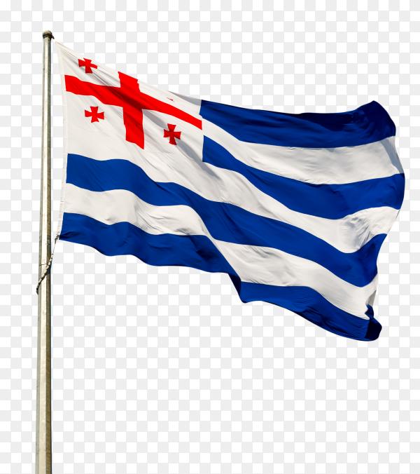 Autonomous Republic of Adjara flag waving on transparent background PNG