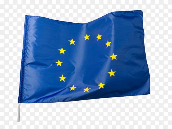 European flag waving on transparent background PNG
