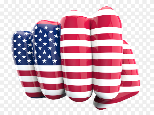 Fist fight american flag transparent PNG