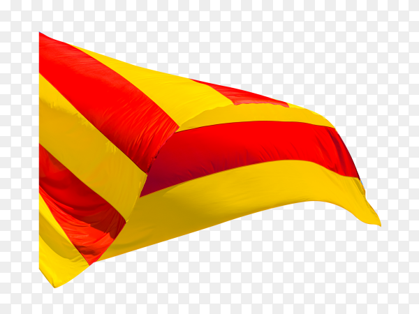 Flag Catalonia – Valencia waving on transparent background PNG