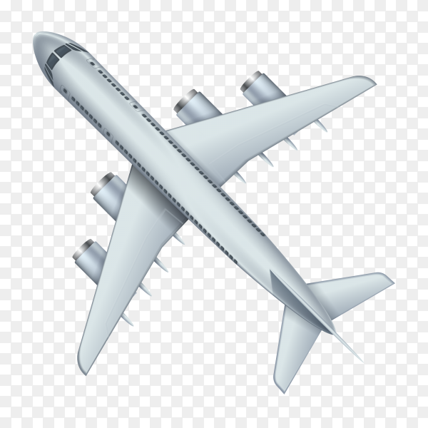 Flying airplane vector PNG