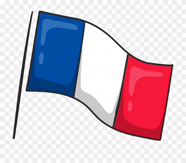 France flag clipart on transparent background PNG
