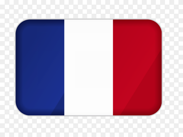 France flag icon on transparent background PNG