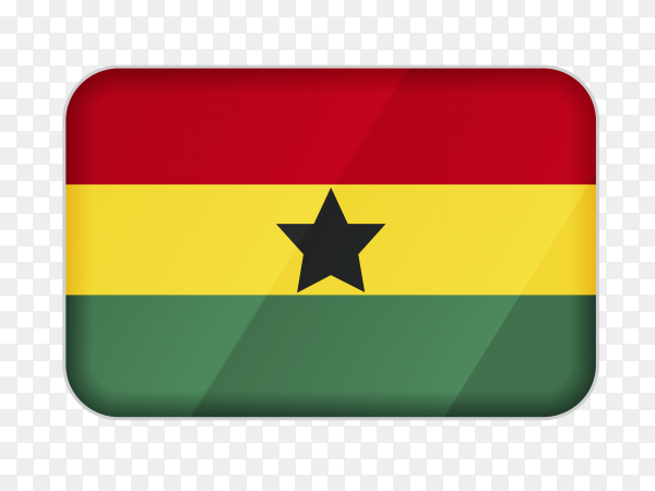 Ghana flag icon on transparent background PNG
