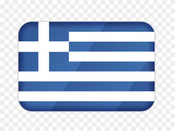 Greece flag icon on transparent background PNG