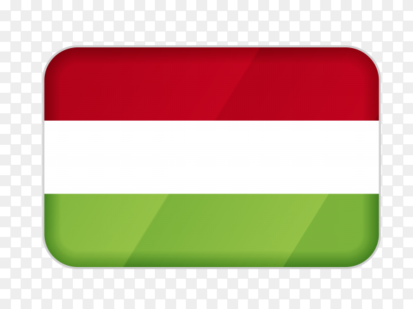 Hungary flag icon on transparent background PNG