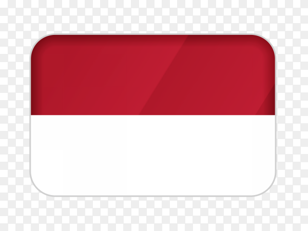 Indonesia flag icon on transparent background PNG
