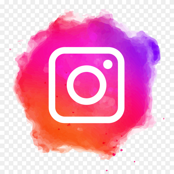 Instagram logo watercolor transparent PNG