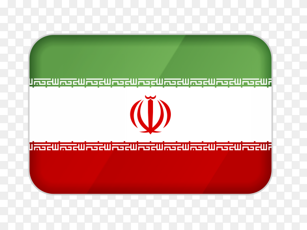Iran flag icon on transparent background PNG